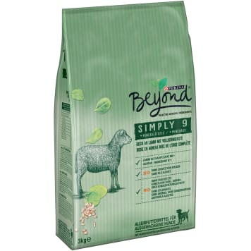 PURINA BEYOND Simply 9 Dog food rich in lamb and whole-grain barley 3kg