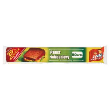 Papier śniadaniowy - Jan Niezbędny. Daje możliwość pakowania małych i dużych kanapek czy ciast.