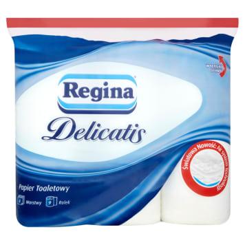 Papier toaletowy - Regina Delicatis to wydajny papier o czterech warstwach.