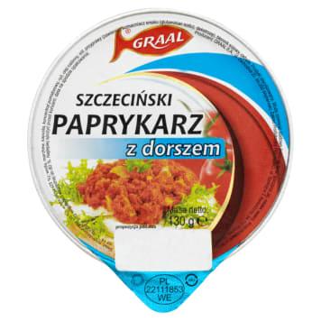 Graal - Paprykarz szczeciński z dorszem. Wyrazisty, lekko pikantny smak.