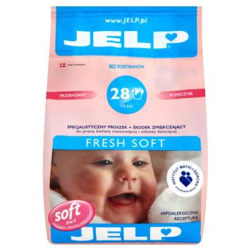 Proszek do prania tkanin - Jelp Fresh Soft. Przeznaczony do tkanin białych i kolorowych.