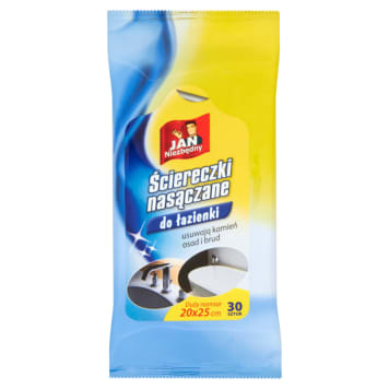 Jan Niezbędny - nasączane ściereczki do łazienki. Wyprodukowane, by ułatwić sprzątanie.