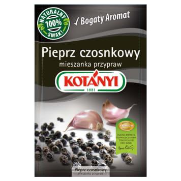 Pieprz czosnkowy 20g - Kotanyi. Perfekcyjna mieszanka pieprzu, soli i czosnku.