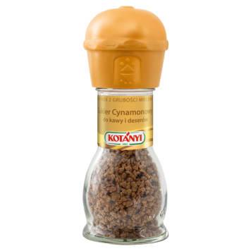 Cukier cynamonowy - młynek - Kotanyi. Niezastąpiony dodatek do deseru.