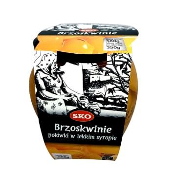 SKO Brzoskwinie Premium połówki w lekkim syropie 580g