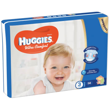 HUGGIES Ultra Comfort Diapers 5-8 kg 58 pcs 1 pc