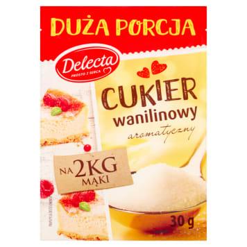Delecta Cukier wanilinowy uzupełnia i podkreśla smak domowych wypieków.