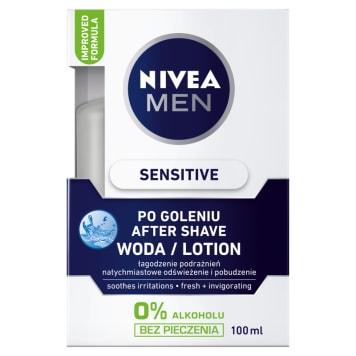 Woda po goleniu - NIVEA MEN. Bogata w substancje pielęgnujące twarz.