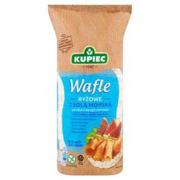 Wafle ryżowe - Kupiec. Wafle ryżowe z solą morską wypiekane z ziaren brązowego ryżu.