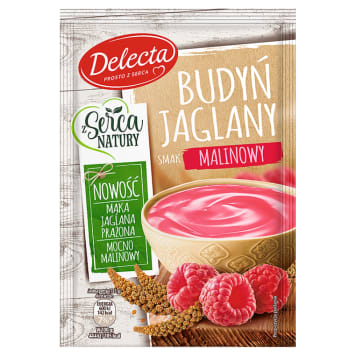 DELECTA Z Serca Natury Millet pudding with raspberry flavour 53g