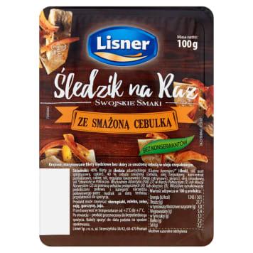 LISNER Swojskie Smaki Śledzik na raz ze smażoną cebulką 100g