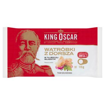 KING OSCAR Cod liver in own fat 115g
