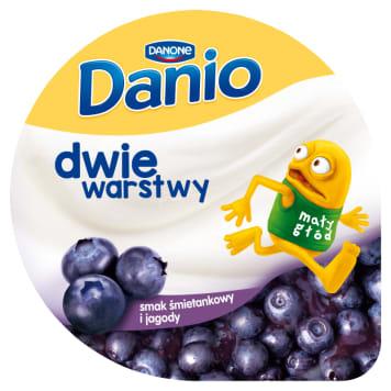 DANONE Danio Dwie warstwy Cream homogenized cheese with blueberries 120g