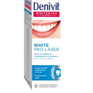DENIVIT Pro-Laser White Pasta do zębów wybielająca do codziennego stosowania 50g