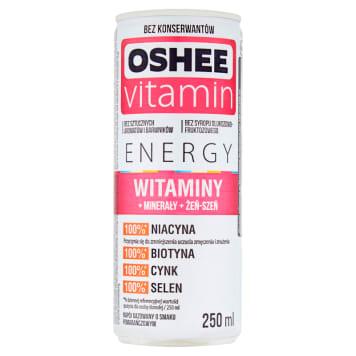 Napój gazowany - Oshee. Gazowany napój energetyczny z witaminami i minerałami.