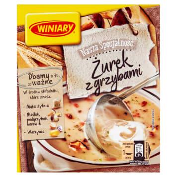 Winiary - Zupa instant Żurek grzybowy standard. Wyjątkowy posmak podgrzybków, borowików i maślaków.