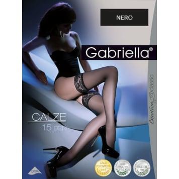 GABRIELLA Self-supporting stockings Calze 15 den, size 3/4, color Nero 1pc