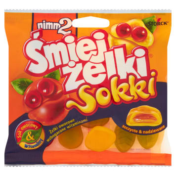 Żelki jogurtowe owocowe Śmiejżelki Sokki - Nimm2. Zamiennik słodyczy pełen witamin.