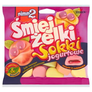 Śmiej żelki sokki jogurtowe – Nimm 2 to orzeźwiające cukierki żelowe z dodatkami.