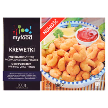MY FOOD Shrimps breaded pre-fried quick-frozen 300 g