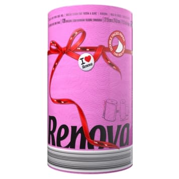RENOVA Red Label Fucsia paper towel 1 pc