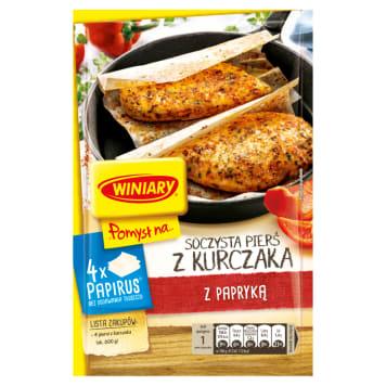 Winiary – Pomysł na pierś kurczaka z papryką Papirus pozwoli zminimalizować użycie tłuszczu.