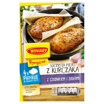 Winiary Pomysł na Papirus - pierś kurczaka z czosnkiem. Sposób na szybkie przygotowanie posiłku.