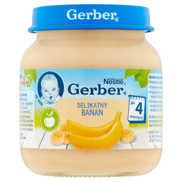 Gerber - Deserek po 4 miesiącu bananowy zachwyci każdego małego smakosza.