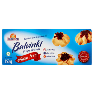 Balviten Balvinki kruche herbatniki bezglutenowe to ciasteczka bezpieczne dla uczulonych na gluten.