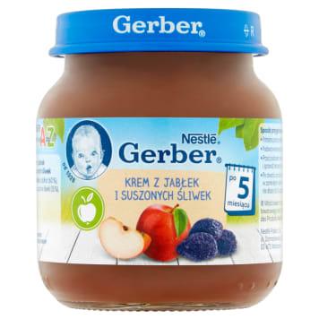 Gerber - Krem z jabłek i śliwek po 5 miesiącu 125g posiada przyjemny smak i bogaty skład.