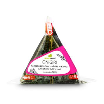 GREEN SUSHI ONIGIRI Kanapka japońska z sałatką krabową zawijana w nori 120g
