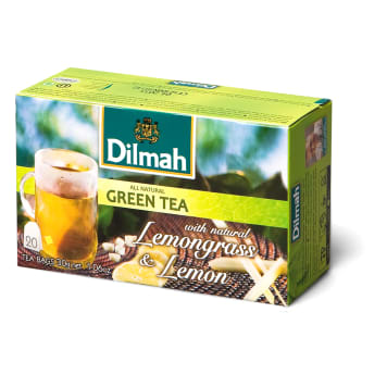 Dilmah - Zielona herbata z trawą cytrynową i cytryną. Doskonała na ciepło i zimno.