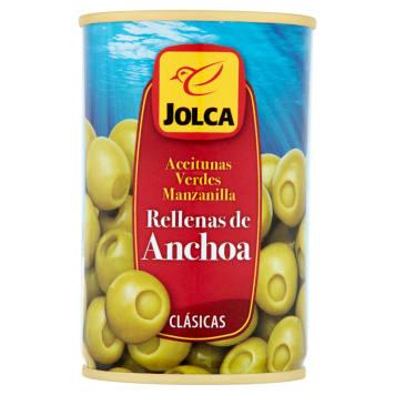 Olwiki zielone z anchois - Jolca. Najlepszej jakości oliwki z regionu Aljarafe.