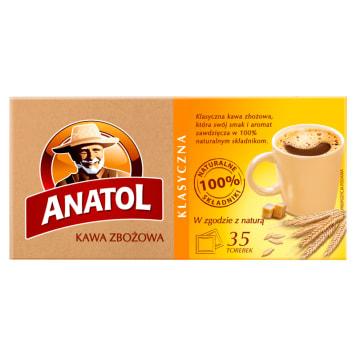 Delecta Anatol - Kawa zbożowa klasyczna 35 saszetek. Tradycyjny zbożowy napój.