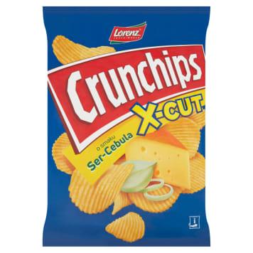 Crunchips X-Cute Chipsy serowo-cebulowe - Lorenz to ziemniaczana przekąska o wyrazistym smaku.