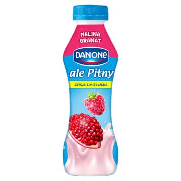 DANONE ale Pitny! Napój jogurtowy - malina i granat (butelka) 290g