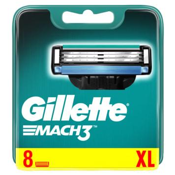 Maszynka do golenia - GILETTE Mach 3. 8 wkładów, powierzchnia goląca z potrójnym ostrzem.
