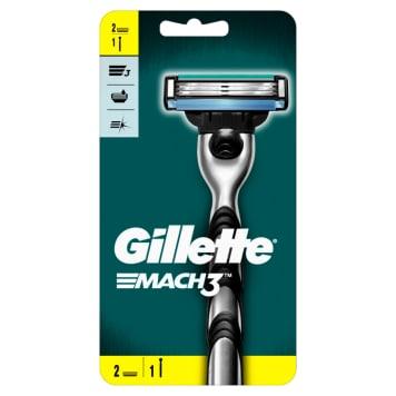GILLETTE Mach3 Razor + 2 Replacement Blades 1pc