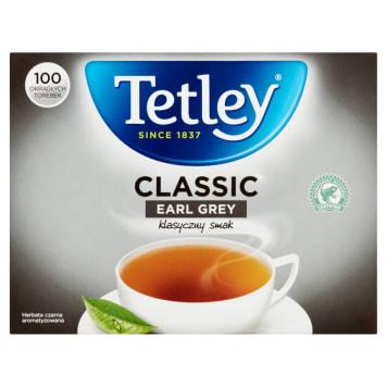 Herbata czarna Earl Grey - Tetley. Klasyczna angielska herbata o wyjątkowym aromacie bergamotki.