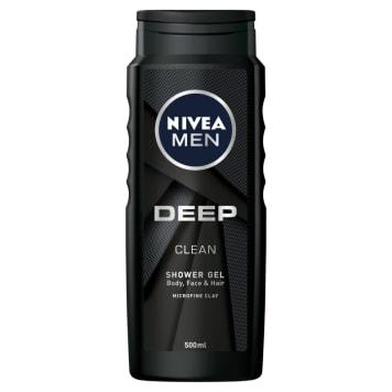 NIVEA MEN Deep Żel pod prysznic do ciała twarzy i włosów 500ml