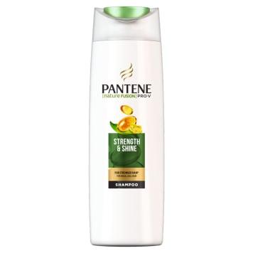 Szampon włosy mocne i lśniące Nature Fusion – Pantene Pro-V. Wydobywa z włosów ich naturalny blask.