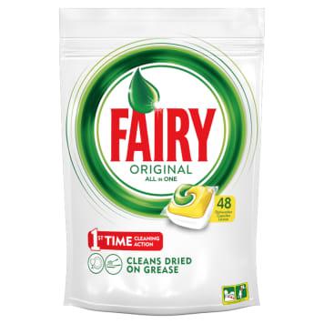 Kapsułki All in one-Fairy. Wyróżniają się ożywczym, cytrusowym zapachem.