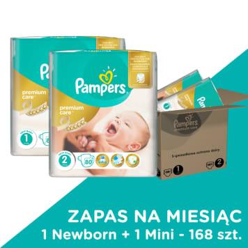 Pieluchy Premium Care Rozmiar 1 + 2 - Pampers. Najwyższa wygoda i komfort maluszka.