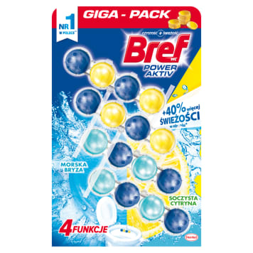 BREF Power Aktiv Toilet pendant Sea breeze and lemon 4x50g 1pc