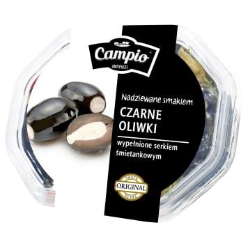 Oliwki czarne Campio nadziewane są serem, dzięki czemu stanowią pyszne połączenie smaków.
