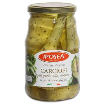 Karczochy po rzymsku w oleju słonecznikowym-Iposea to tradycyjny, włoski produkt.