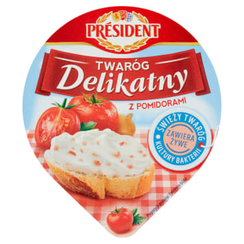 PRESIDENT Delicate cottage cheese with tomatoes 200g