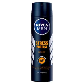 Nivea - Antyperspirant w sprayu Stress Protect for Men posiada działanie nawet do 48 godzin.