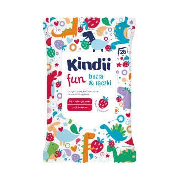KINDII Fun Baby face wipes & handles 25 items 1pc