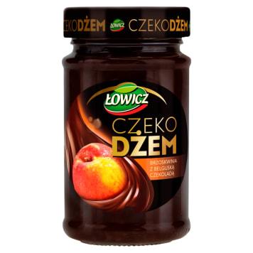 ŁOWICZ Czeko Jam peach with Belgian chocolate 250g